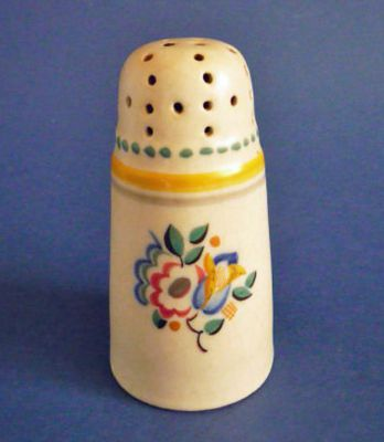 Early CSA Poole Pottery EZ Pattern Sugar Sifter by Truda Adams Carter c1928